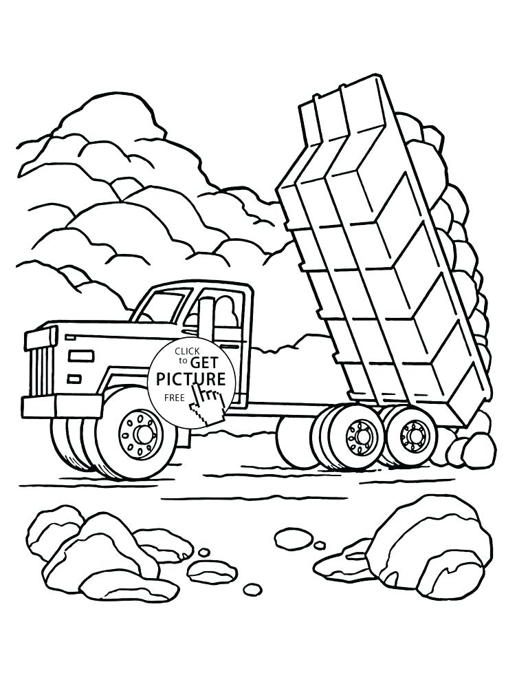 736x994 Transportation Coloring Page Tow Truck Coloring Pages Dump Truck
