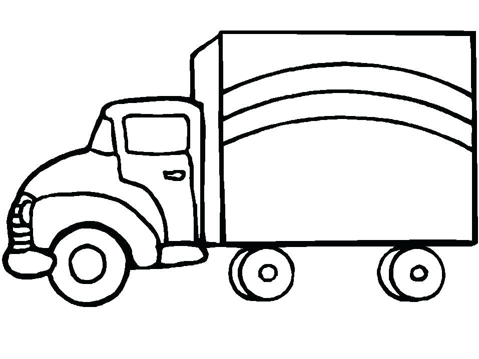 957x718 Truck Coloring Pages For Preschoolers Cattle Truck Coloring Pages