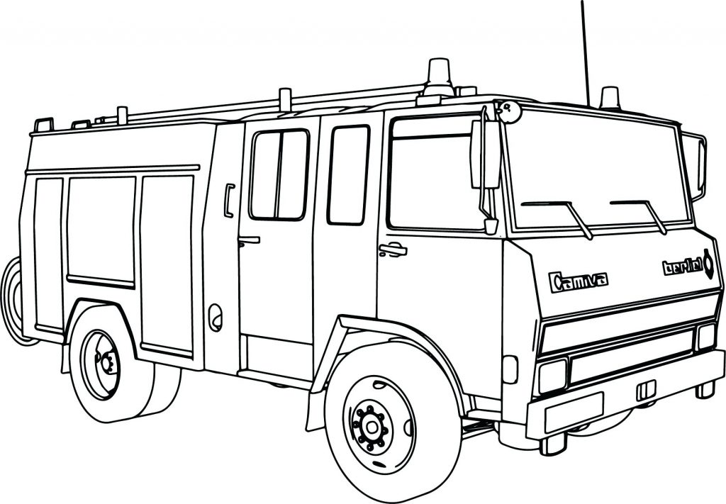 1024x711 Coloring Pages Fire Truck Coloring Pages Easy Engine Page Fire