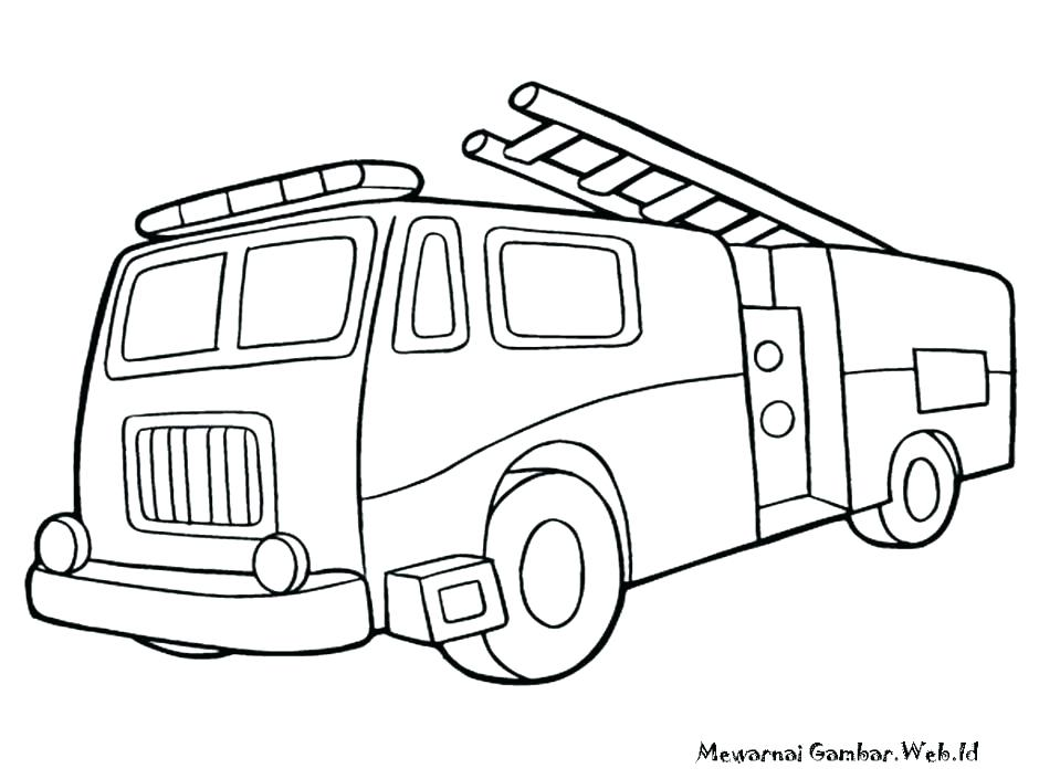940x705 Fire Truck Coloring Page
