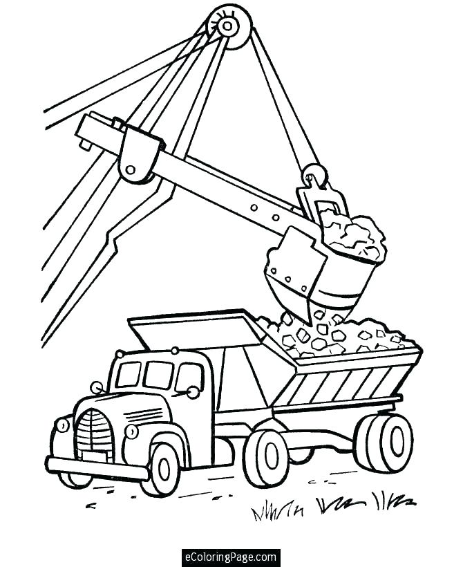 670x820 Dump Truck Coloring Page Coloring Pages Garbage Truck Appealing