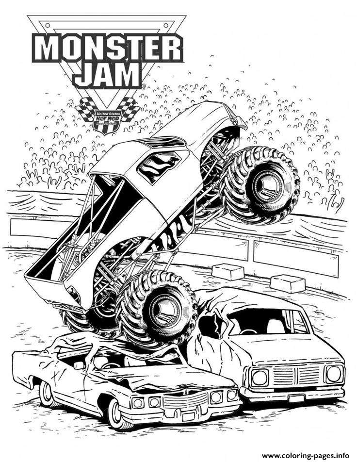 736x952 Grave Digger Monster Jam Truck Coloring Pages Printable