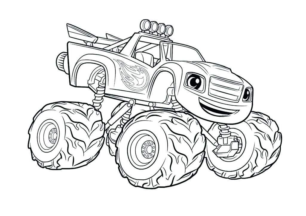 1024x724 Grave Digger Monster Truck Coloring Pages Printable Monster Truck