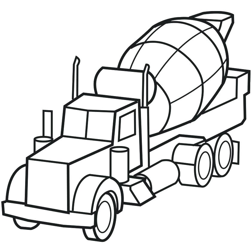 842x842 Logging Semi Truck Coloring Page Download Print Online Coloring