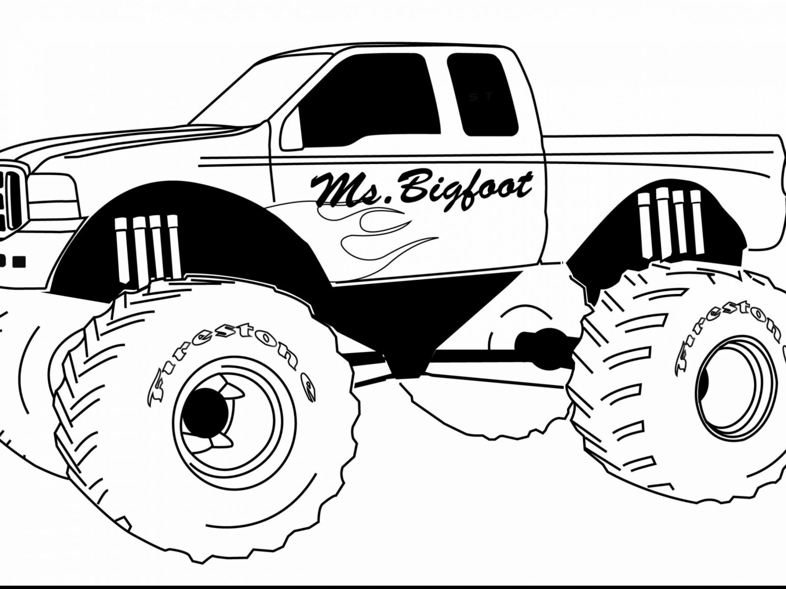 1600x1200 Printable Dump Truck Coloring Pages General Free To Color Trucks