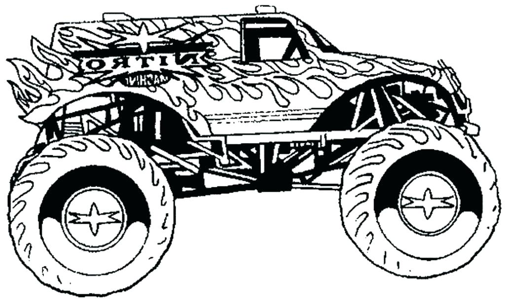 1024x606 Truck Color Pages Monster Truck Coloring Pages Grave Digger