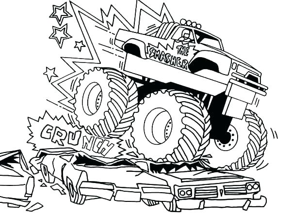 600x442 Truck Coloring Pages Best Grave Digger Monster Truck Coloring
