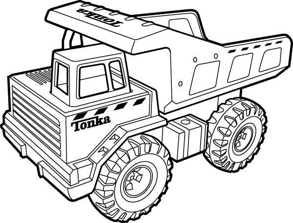600x456 Dump Truck Coloring Pages