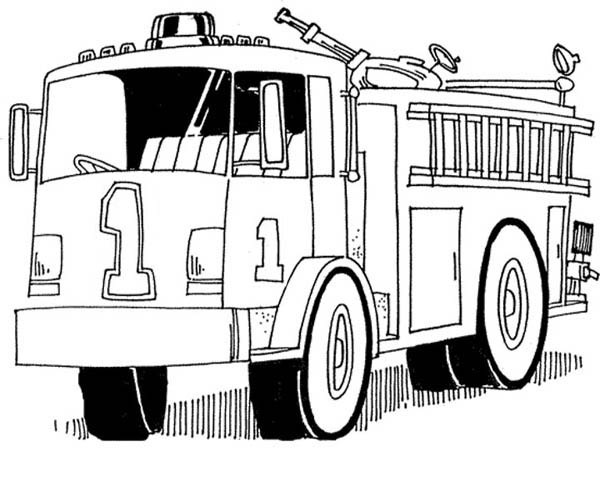 600x492 Fire Truck Coloring Pages