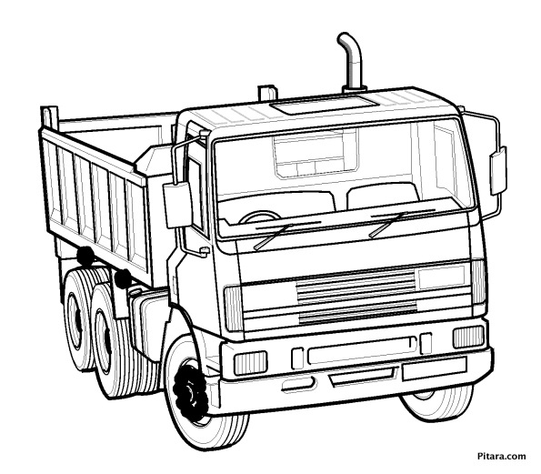595x521 Land Transportation Coloring Pages Pitara Kids Network