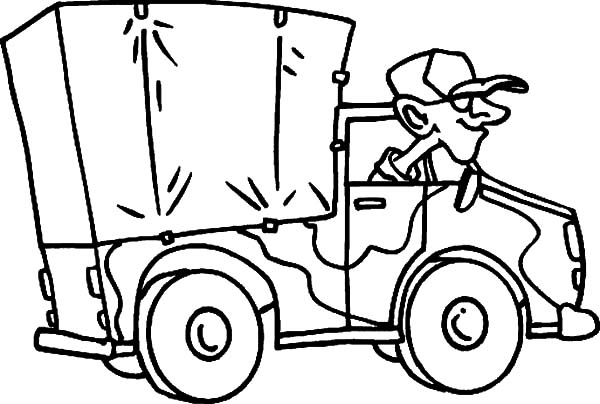 600x404 Military Truck Cartoon Coloring Pages Color Luna