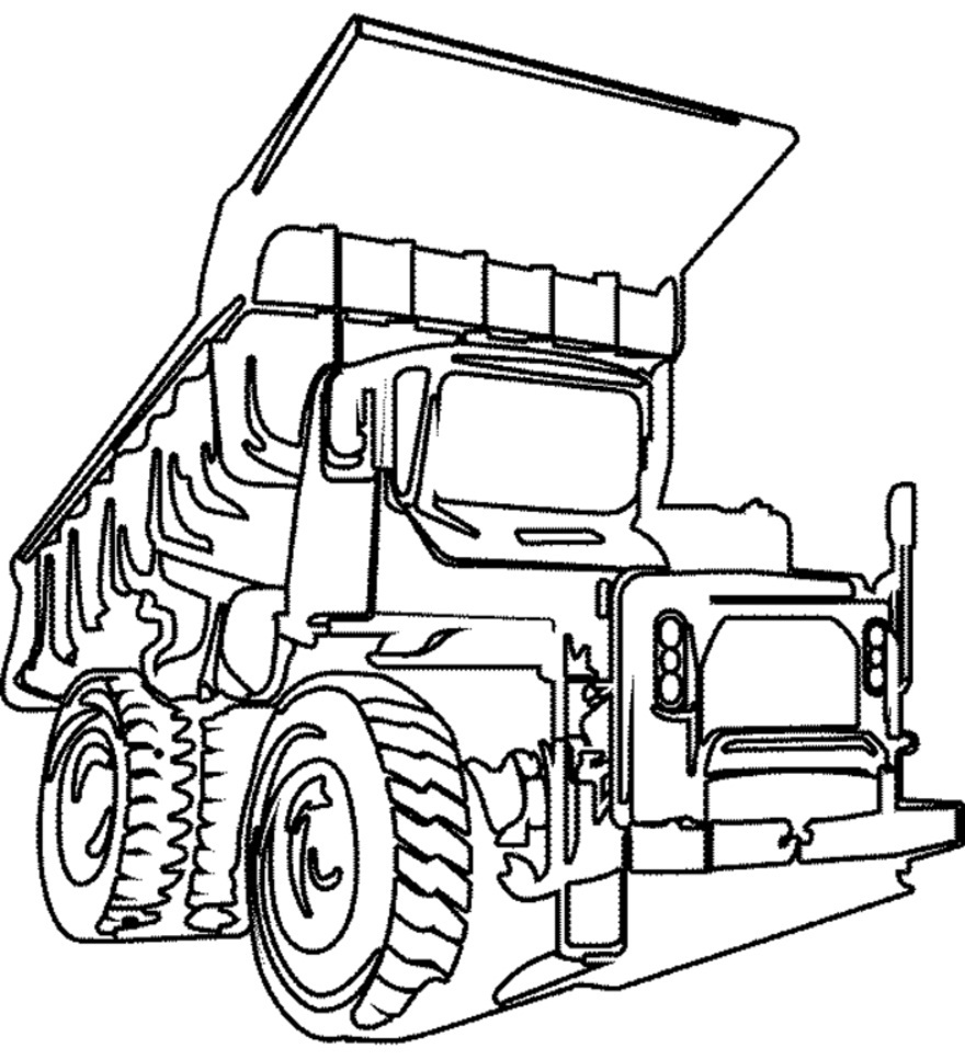 880x966 Printable Dump Truck Coloring Pages Coloring Me