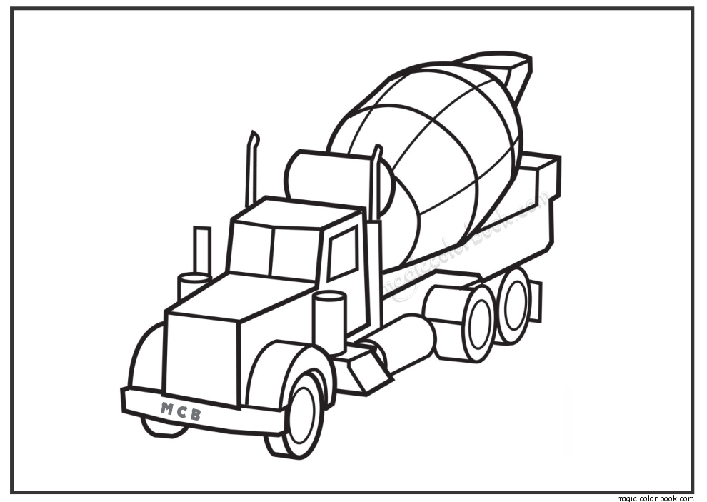 990x703 Truck Free Coloring Pages
