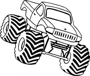 365x307 Monster Truck Coloring Page Cameo Silhouette