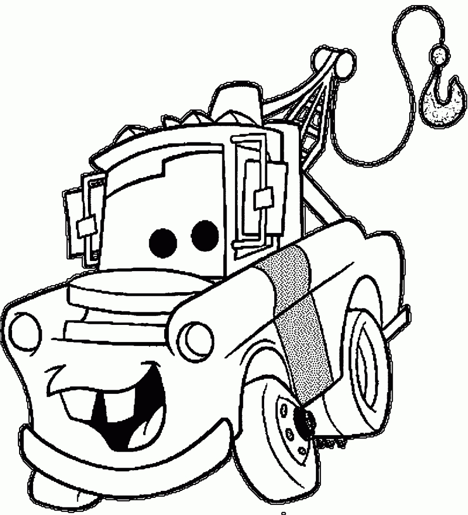 932x1024 Awesome Coloring Pages Disney Mater Gallery Printable Coloring Sheet