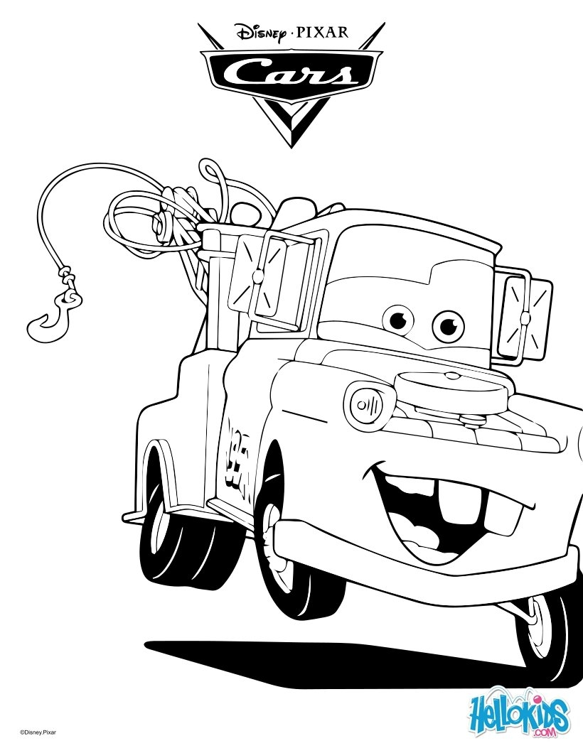 820x1060 Awesome Tow Truck And Driver Coloring Page For Toddlers