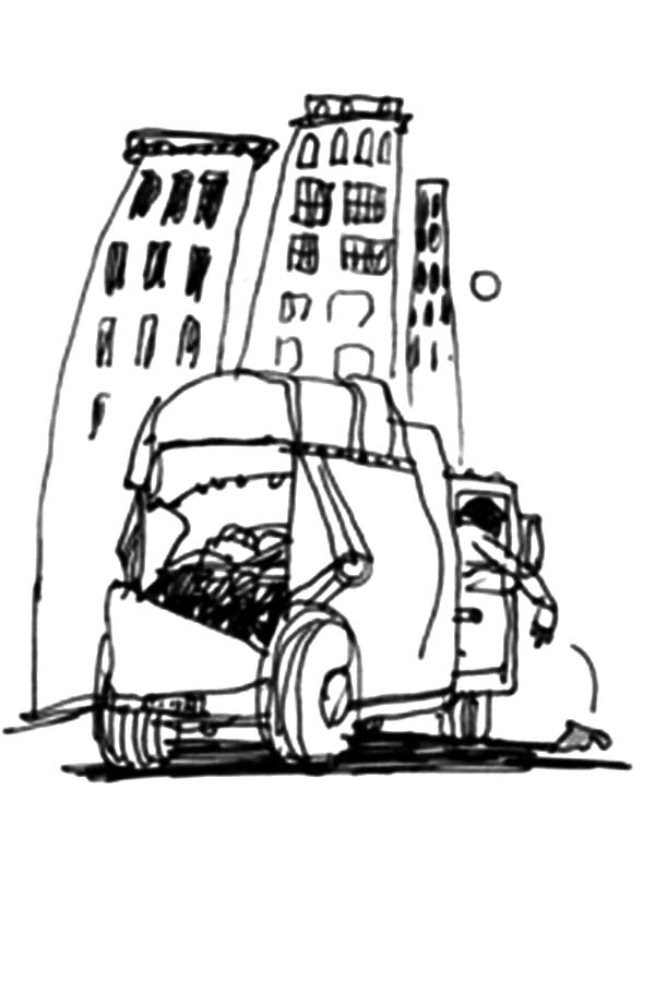 Truck Driver Coloring Pages At Getdrawings Com