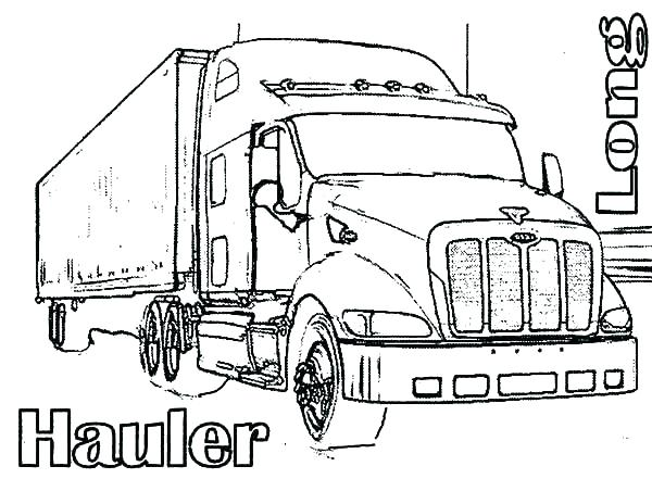 600x464 Big Rig Coloring Pages Semi Coloring Pages Big Rig Coloring Pages