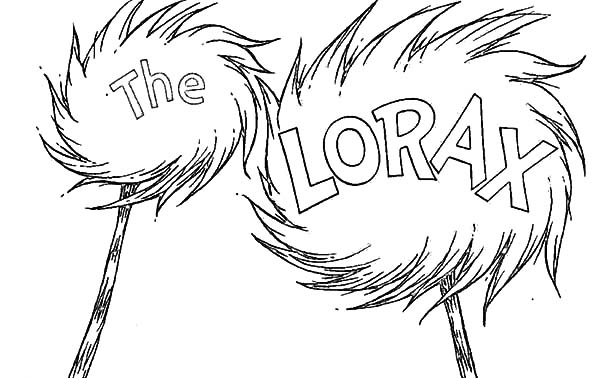 600x378 The Lorax Try To Protect Truffula Tree Coloring Pages The Lorax