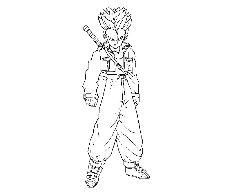 800x667 Dragon Ball Z Coloring Pages Trunks Best Ideas For Printable