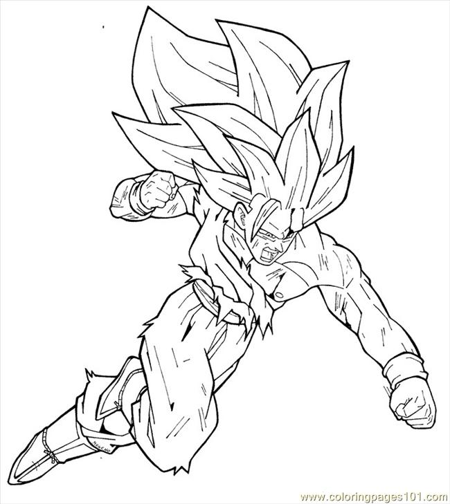650x729 Dragon Ball Z Goku Coloring Pages