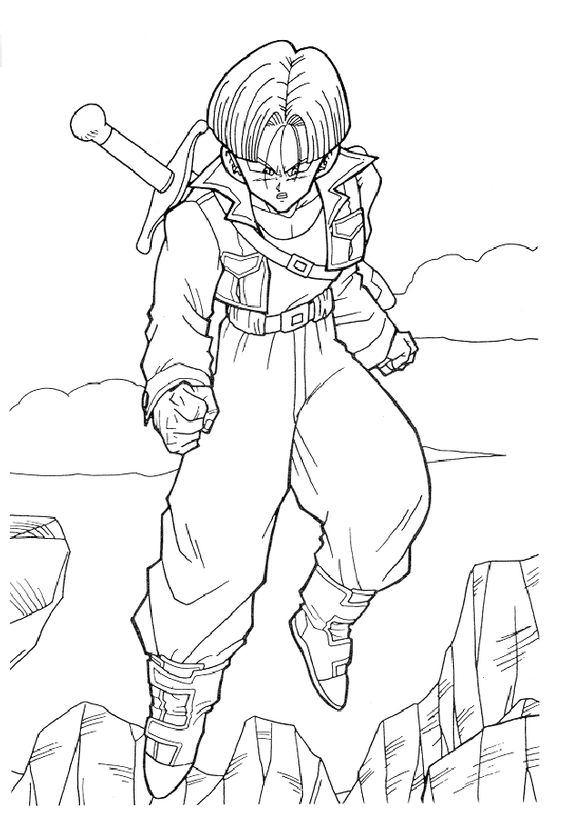 564x827 Dragon Ball Z Guy Free Coloring Page Dragon Ball Z, Kids