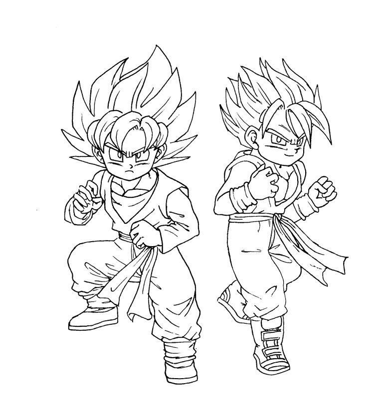 774x843 Dragon Ball Z Trunks Coloring Page, Trunks Coloring Pages