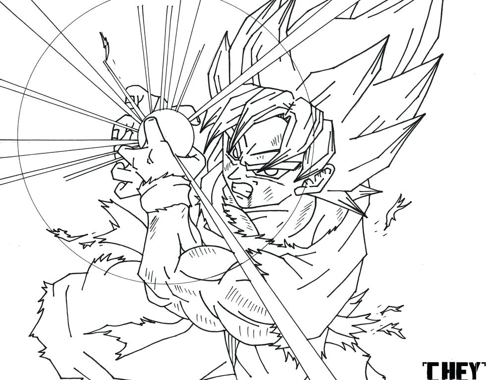 991x768 Dragon Ball Z Trunks Coloring Pages Free Cartoon Printable Dragon