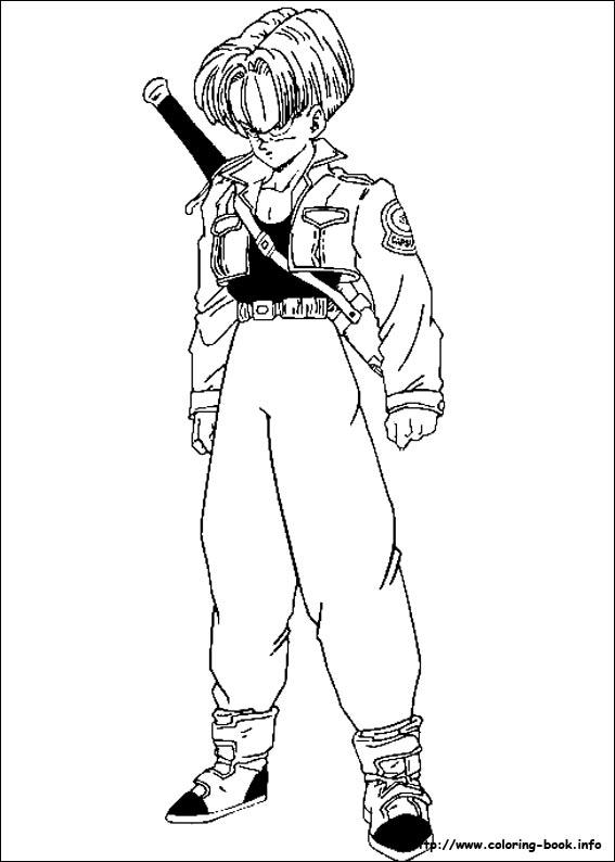 567x794 Dragon Ball Z Coloring Picture