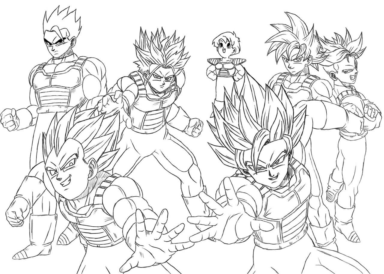 1280x914 Enjoyable Design Ideas Dragon Ball Z Coloring Pages