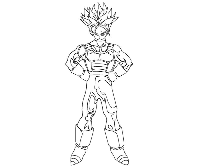 800x667 Future Trunks Coloring Crafty Teenager