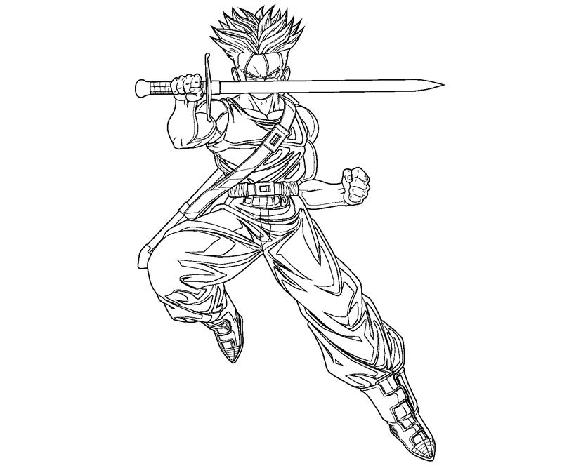 800x667 Random Future Trunks Coloring Pages, Trunks Coloring Pages