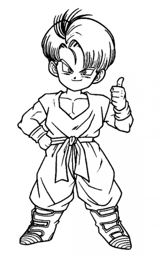 550x858 Son Goku Dragon Ball Z Coloring Pages For Kids All About Free