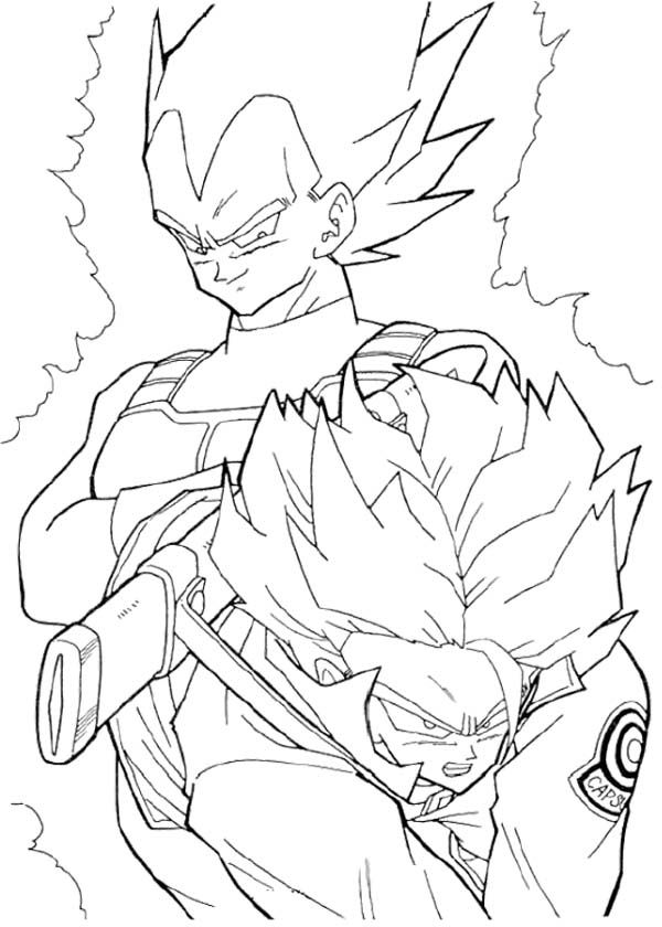 600x840 Vegeta And Trunks Coloring Page Coloring Pages