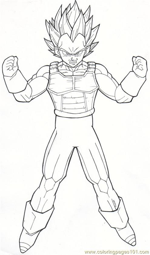 495x843 Vegeta Coloring Pages