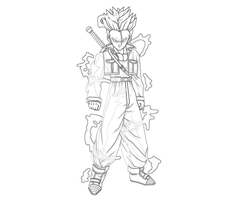 800x667 Dbz Coloring Pages Trunks