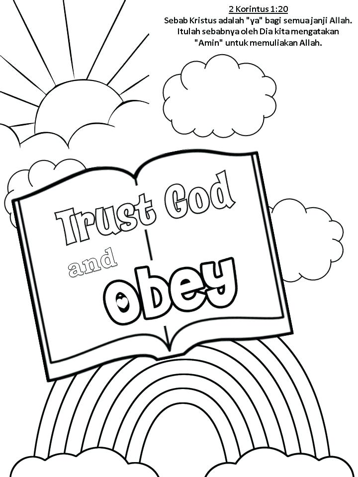 Trust Coloring Page