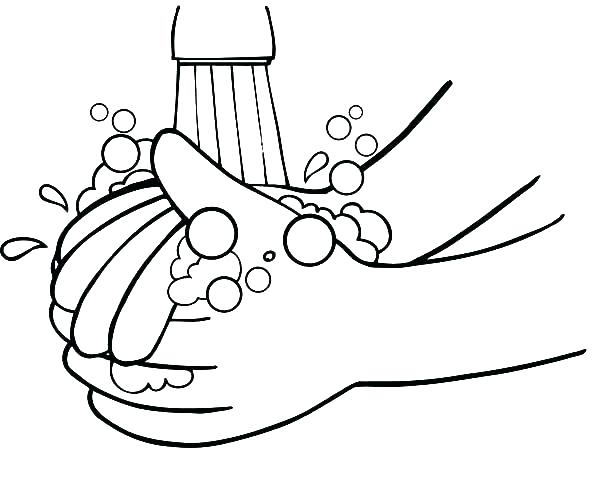 600x494 Printable Praying Hands Printable Coloring Pages Of Hands Showing