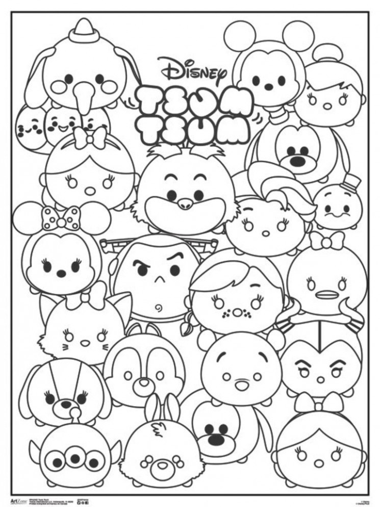 Tsum Tsum Coloring Pages at GetDrawings | Free download