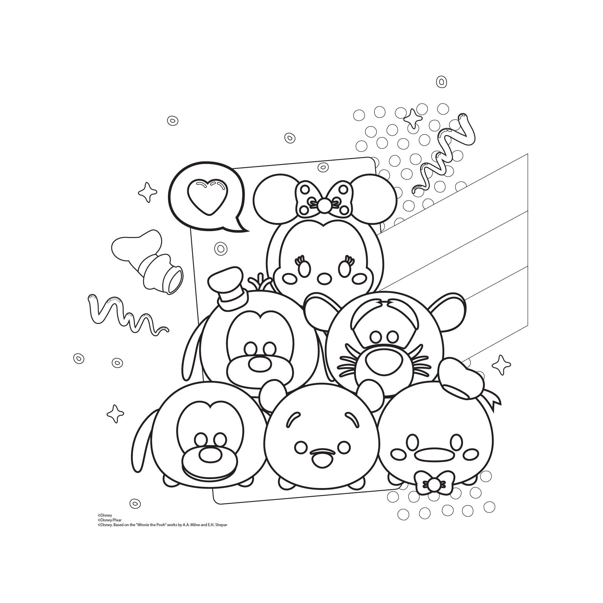Tsum Tsum Coloring Pages Printable At GetDrawings