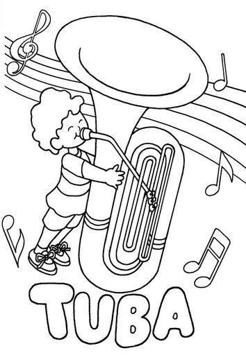Tuba Coloring Page