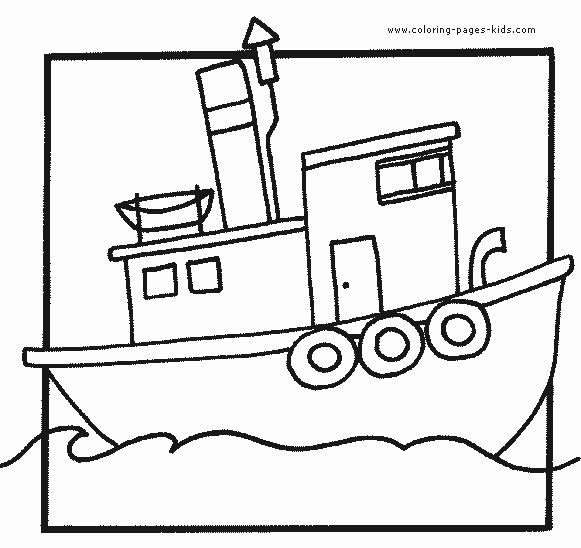 Tugboat Coloring Pages