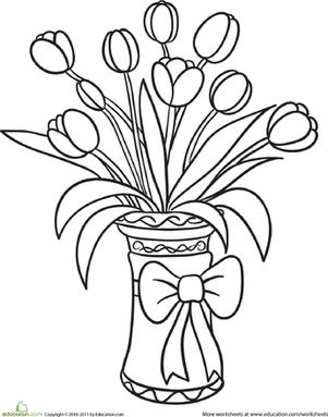 301x383 Tulip Bouquet Worksheet