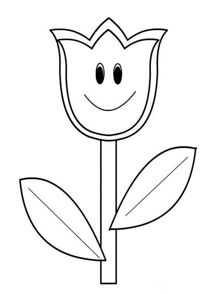 750x1000 Tulip Coloring Pages Download And Print Tulip Coloring Pages