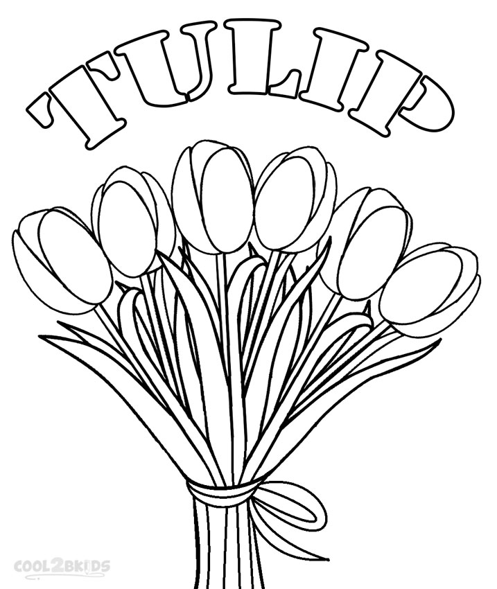 717x850 Printable Tulip Coloring Pages