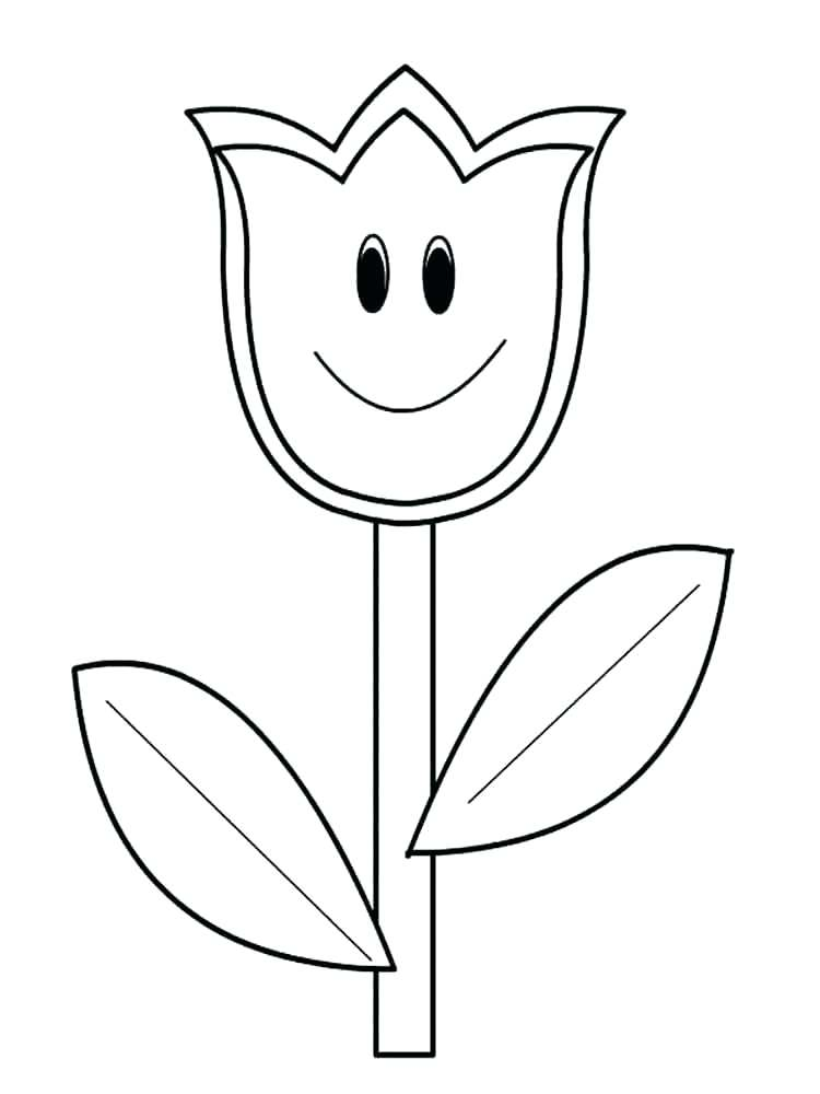 Tulip Flower Coloring Pages at GetDrawings | Free download