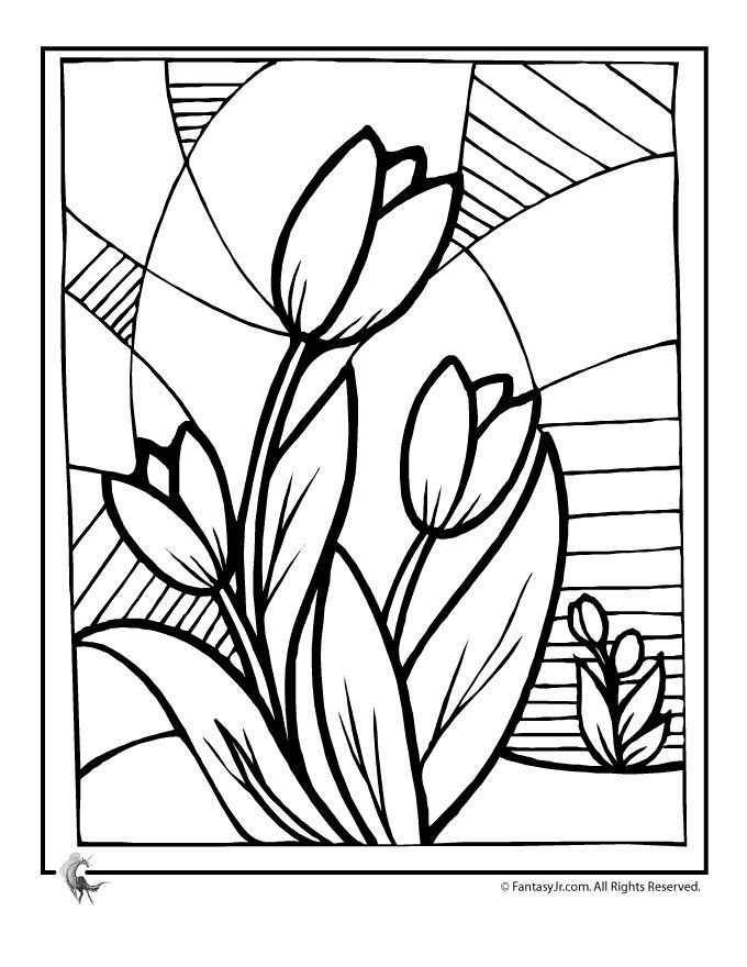 680x880 Flower Coloring Pages Spring Flowers Tulip Flower Coloring Page