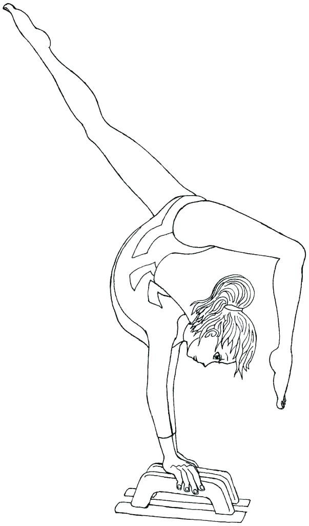 603x1024 Weekly Gymnastics Colouring Book Gymnastics Coloring