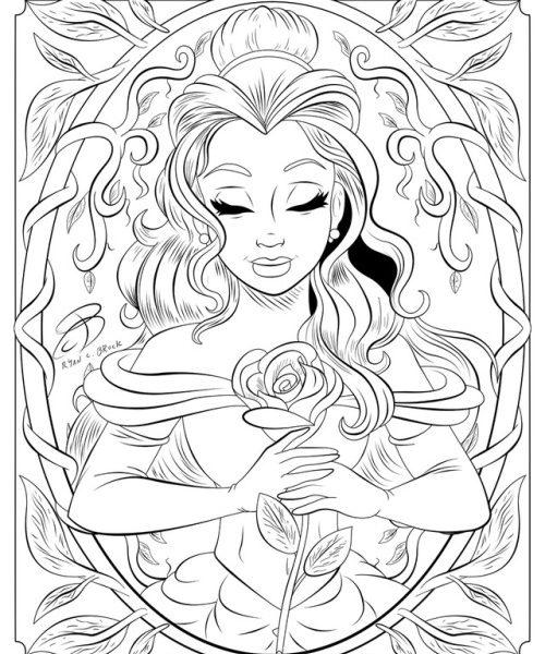 500x600 Tumblr Coloring Pages Page Freescoregov Com Disney Book Printable