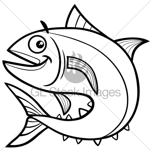 500x500 Tuna Fish Coloring Page Gl Stock Images
